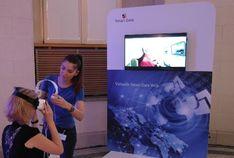 Mithilfe einer VR-Anwendung wurde das Thema Smart Data erlebbar gemacht.