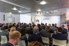 Staatssekretär Dr. Nussbaum bei seiner Rede zur Eröffnung von Forum Digitale Technologien