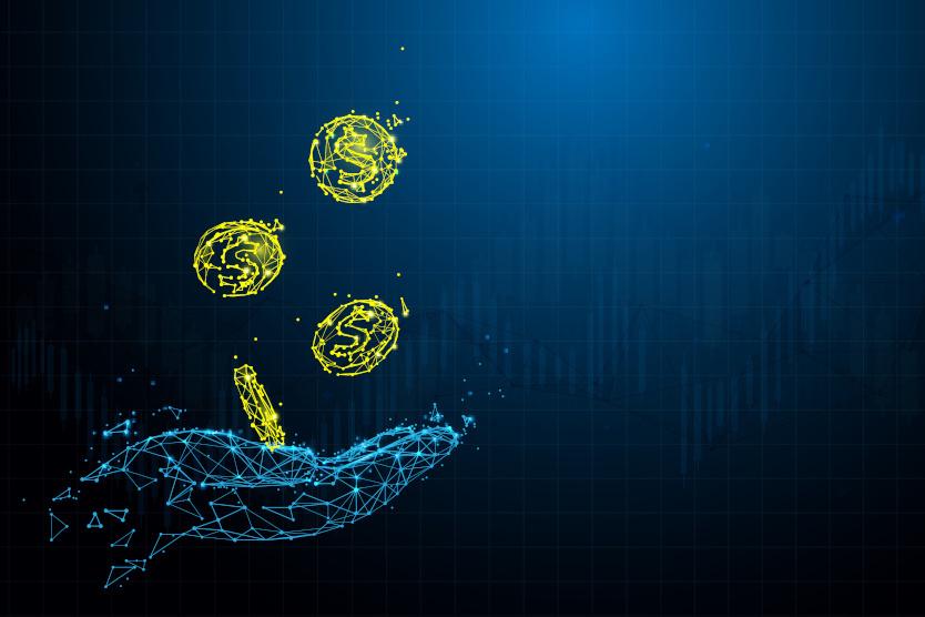 Stockfoto zur Visualisierung von Datenmonetarisierung