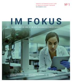 """Titelbild des Magazins """"Im Fokus"""" der Begleitforschungen der Technologieprogramme Smarte Datenwirtschaft und KI-Innovationswettbewerb"""