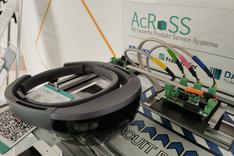 Dieses Bild zeigt eine von zwei im Projekt AcRoSS eingesetzten Datenbrillen.