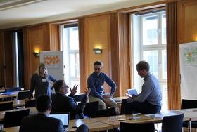 """Diskussionen in dem Workshop """"Digitale Geschäftsmodelle und Plattformökonomie"""""""