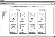 Mock-ups aDept-Demonstratorplattform