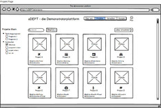 Mock-ups aDept-Demonstratorplattform