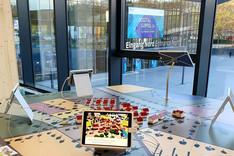 Dieses Bild zeigt eine Impression vom Digital-Gipfel-Ausstellungsbereich.