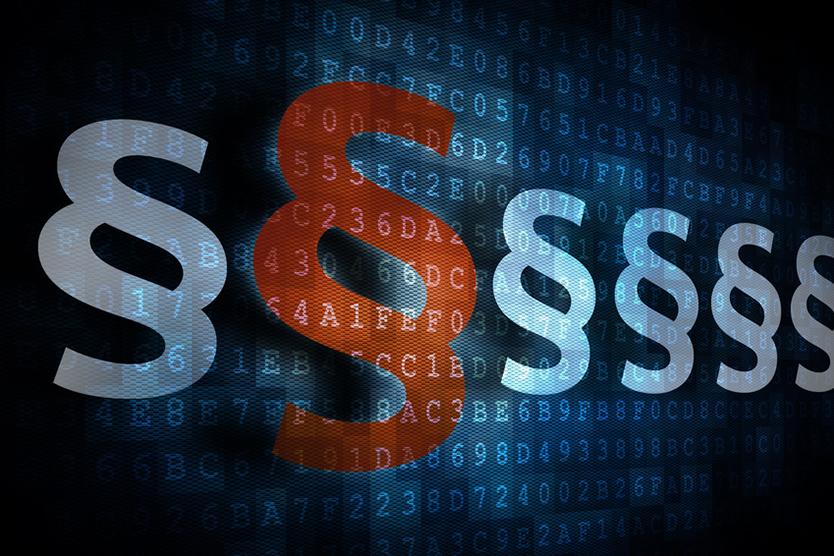 Paragraphen zum Thema Europäische Datenschutzgrundverordnung; Quelle: Fotolia.com/fotogestoeber